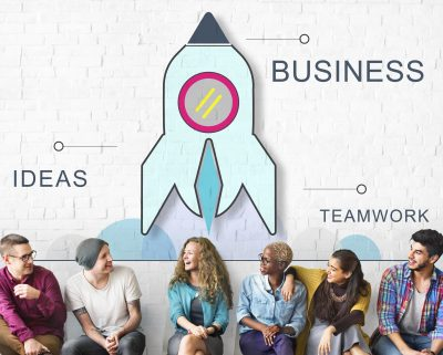 time de empreendedores construindo uma fintech
